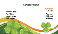 Four Leaf Clover Business Card Template